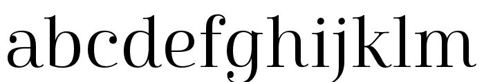 Cabrito Didone Norm Regular Font LOWERCASE