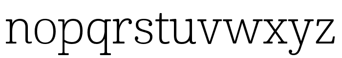Cabrito Ext Light Font LOWERCASE