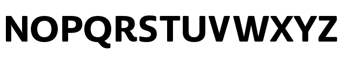 Cabrito Sans Ext ExBold Font UPPERCASE