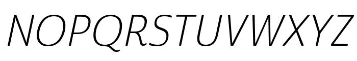 Cabrito Sans Ext Light Ital Font UPPERCASE