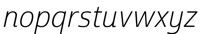 Cabrito Sans Ext Light Ital Font LOWERCASE
