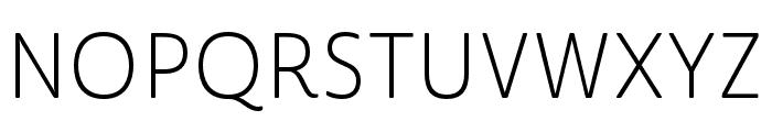 Cabrito Sans Ext Light Font UPPERCASE