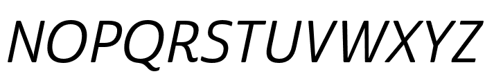Cabrito Sans Ext Medium Ital Font UPPERCASE