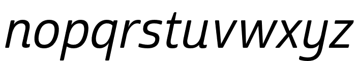 Cabrito Sans Ext Medium Ital Font LOWERCASE