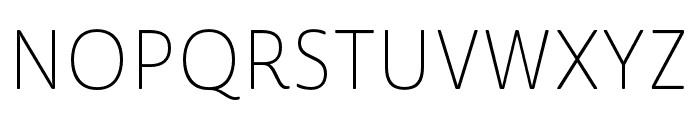 Cabrito Sans Ext Thin Font UPPERCASE