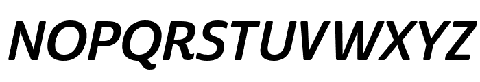 Cabrito Sans Norm Bold Ital Font UPPERCASE