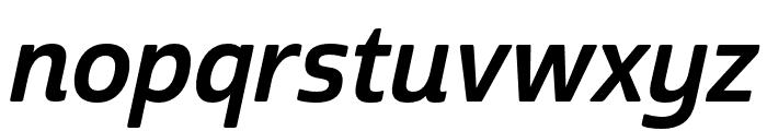 Cabrito Sans Norm Bold Ital Font LOWERCASE