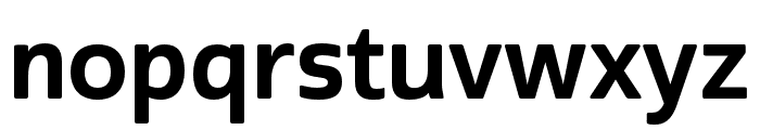 Cabrito Sans Norm Bold Font LOWERCASE