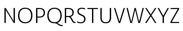 Cabrito Sans Norm Book Font UPPERCASE