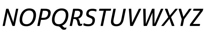 Cabrito Sans Norm Demi Ital Font UPPERCASE