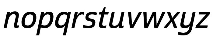 Cabrito Sans Norm Demi Ital Font LOWERCASE