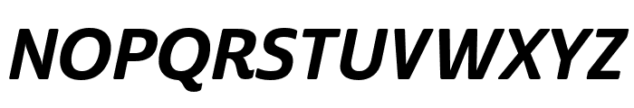 Cabrito Sans Norm ExBold Ital Font UPPERCASE