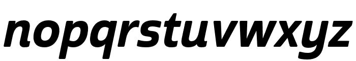 Cabrito Sans Norm ExBold Ital Font LOWERCASE