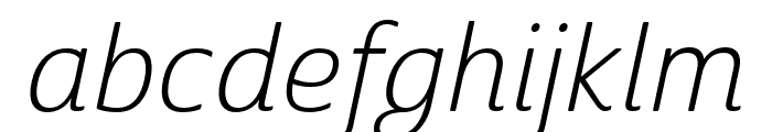 Cabrito Sans Norm Light Ital Font LOWERCASE