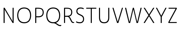 Cabrito Sans Norm Light Font UPPERCASE