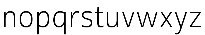 Cabrito Sans Norm Light Font LOWERCASE