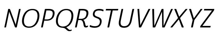 Cabrito Sans Norm Regular Ital Font UPPERCASE