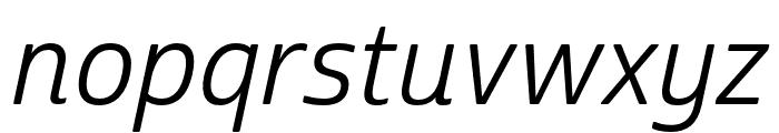 Cabrito Sans Norm Regular Ital Font LOWERCASE