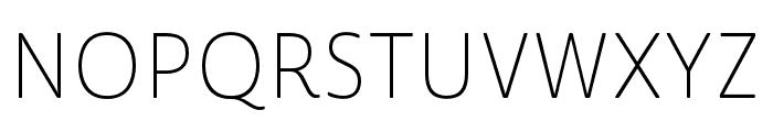 Cabrito Sans Norm Thin Font UPPERCASE