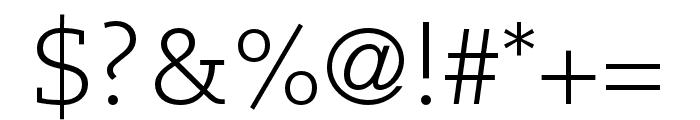Caecilia LT Pro 45 Light Font OTHER CHARS