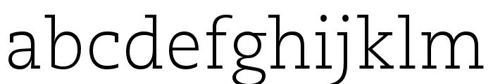Caecilia LT Pro 45 Light Font LOWERCASE