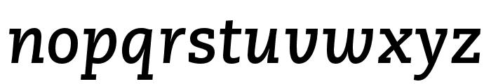 Caecilia LT Pro 76 Bold Italic Font LOWERCASE