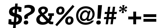 Caecilia LT Pro 86 Heavy Italic Font OTHER CHARS