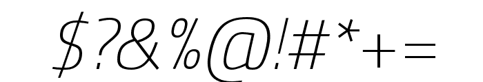Cairo ExtraLight Italic Font OTHER CHARS