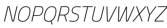 Cairo ExtraLight Italic Font UPPERCASE