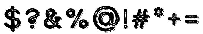 Calder Dark Outline Font OTHER CHARS