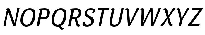 Calendula Italic Regular Font UPPERCASE