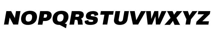 Campaign Black Italic Font UPPERCASE