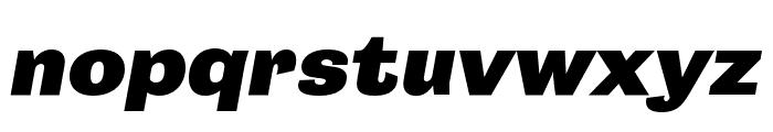 Campaign Black Italic Font LOWERCASE