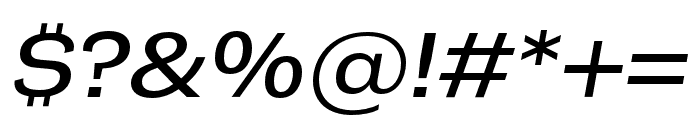 Campaign Italic Font OTHER CHARS