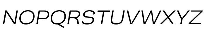 Campaign Light Italic Font UPPERCASE