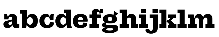 Campaign Slab Bold Font LOWERCASE