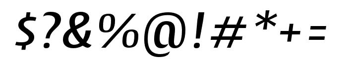 Cantiga Medium Italic Font OTHER CHARS