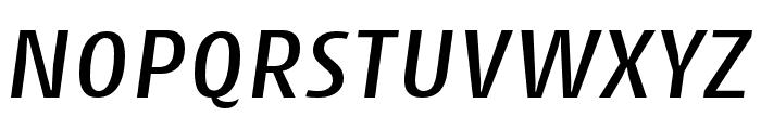 Cantiga Medium Italic Font UPPERCASE