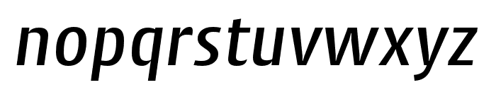 Cantiga Medium Italic Font LOWERCASE
