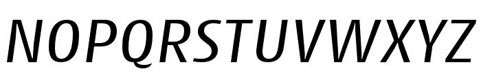Cantiga Regular Italic Font UPPERCASE