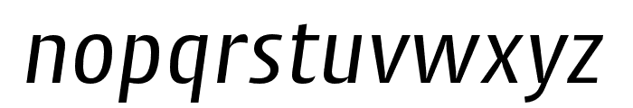 Cantiga Regular Italic Font LOWERCASE