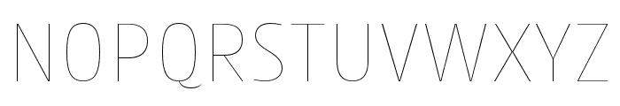 Cantiga Thin Font UPPERCASE