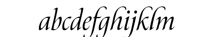 Canto Brush Italic Font LOWERCASE