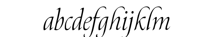Canto Brush Light Italic Font LOWERCASE