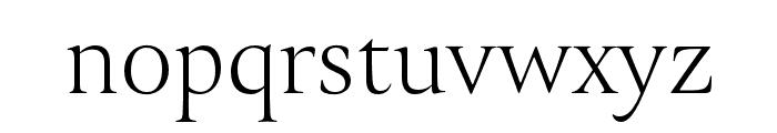 Canto Brush Open Light Font LOWERCASE