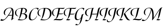Canto Brush Open Semibold Italic Font UPPERCASE