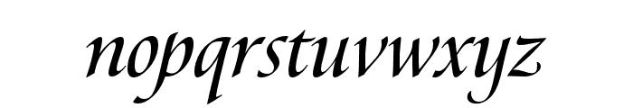 Canto Brush Open Semibold Italic Font LOWERCASE