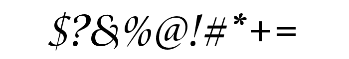 Canto Brush Semibold Italic Font OTHER CHARS