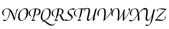 Canto Brush Semibold Italic Font UPPERCASE
