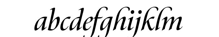 Canto Brush Semibold Italic Font LOWERCASE